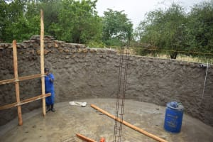 The Water Project: Kikumini Boys Secondary School -  Building Up The Tank Walls From The Inside