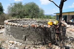 The Water Project: Kikumini Boys Secondary School -  Building Up The Tank Walls