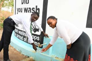 The Water Project: Kikumini Boys Secondary School -  Getting Water At The Tank