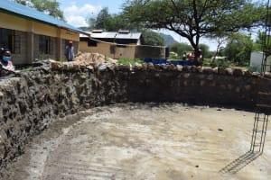 The Water Project: Kikumini Boys Secondary School -  Inside The Tank Wall Progress