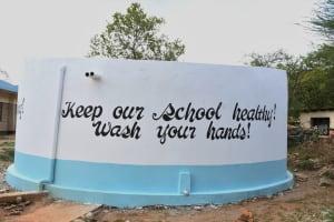 The Water Project: Kikumini Boys Secondary School -  Painted Tank