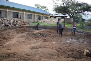 The Water Project: Kikumini Boys Secondary School -  Preparing The Tank Site For The Foundation