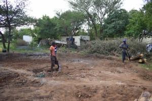 The Water Project: Kikumini Boys Secondary School -  Preparing The Tank Site