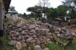The Water Project: Kikumini Boys Secondary School -  Rocks For The Tank
