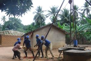 The Water Project: Kamasondo, Masome Village -  Drilling