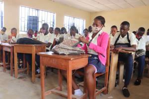 The Water Project: Kingsway Secondary School -  Sierraleone Student Inside Classroom