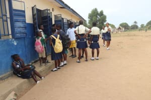 The Water Project: Kingsway Secondary School -  Sierraleone Students Outside Classroom