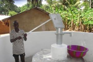 The Water Project: Kamasondo, Masome Village -  Abdulai K Collecting Water