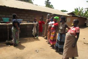 The Water Project: Kamasondo, Masome Village -  Dish Rack Demonstration