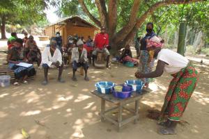 The Water Project: Kamasondo, Masome Village -  Handwashing Demonstration