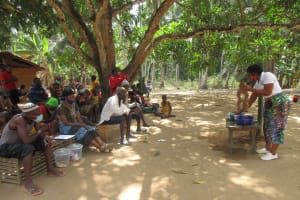 The Water Project: Kamasondo, Masome Village -  Lesson On Diarrhea