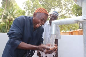 The Water Project: Kamasondo, Masome Village -  Man Celebrates The Well