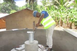 The Water Project: Kamasondo, Masome Village -  Pump Installation