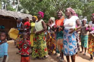 The Water Project: Kamasondo, Masome Village -  Singing At Well Dedication