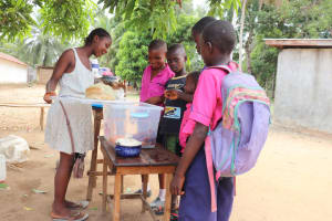 The Water Project: Saint Paul's Roman Catholic Primary School -  Students Buying Food