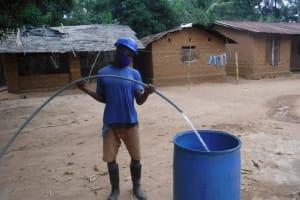 The Water Project: Kamasondo, Masome Village -  Yield Test