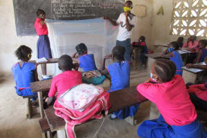 The Water Project: St. Peter Roman Catholic Primary School -  Malaria Bednet Demonstration