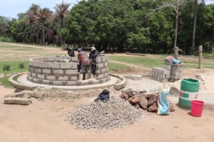 The Water Project: St. Peter Roman Catholic Primary School -  Pad Construction