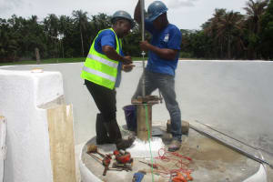 The Water Project: St. Peter Roman Catholic Primary School -  Pump Installation