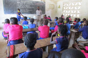 The Water Project: St. Peter Roman Catholic Primary School -  Student Demonstrates Proper Handwashing