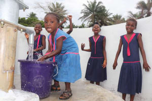 The Water Project: St. Peter Roman Catholic Primary School -  Students Celebrate At The Well