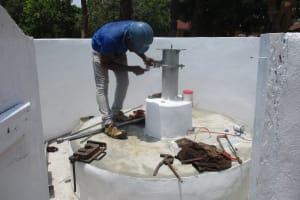 The Water Project: DEC Kitonki Primary School -  Pump Installation