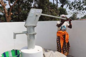 The Water Project: DEC Kitonki Primary School -  Pumping The Well