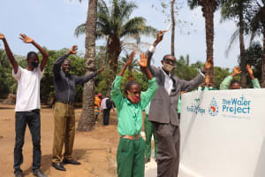 The Water Project: DEC Kitonki Primary School -  Students Celebrate The Well