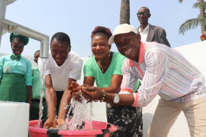 The Water Project: DEC Kitonki Primary School -  Teachers Celebrate At The Well