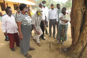 The Water Project: DEC Kitonki Primary School -  Tippy Tap Handwashing Demonstration