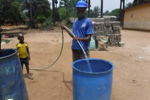 The Water Project: DEC Kitonki Primary School -  Yield Test