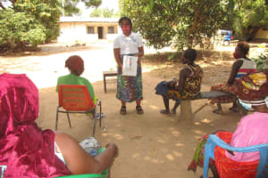 The Water Project: Lungi, Yongoroo, 32 Gbainty Bunlor -  Discussing Proper Hygiene Practices