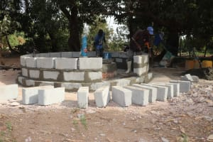 The Water Project: Lungi, Yongoroo, 32 Gbainty Bunlor -  Pad Construction