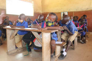 The Water Project: Lungi, Tardi, St. Monica's RC Primary School -  Students Inside Classroom
