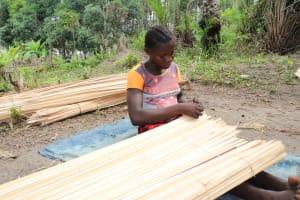 The Water Project: Kamasondo, Feradugu Village -  Woman Weaving Local Mat