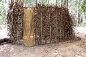 The Water Project: Kamasondo, Makontho Village -  Bath Shelter