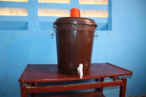 The Water Project: Kamasondo, Makontho Village -  Water Storage