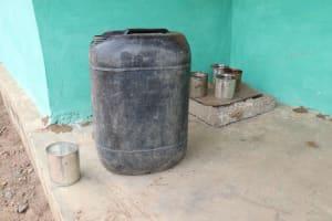 The Water Project: Kamasondo, Makontho Village -  Water Storage At Mosque