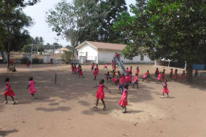 The Water Project: Lungi, Tintafor, Mother Teresa's Pre-Primary School -  Students Outside Playing