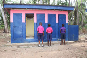 The Water Project: Saint Paul's Roman Catholic Primary School -  Students Waiting To Use Latrine