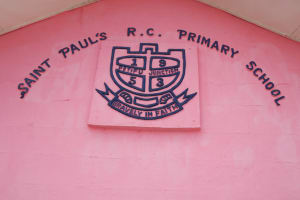 The Water Project: Saint Paul's Roman Catholic Primary School -  School Sign