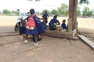 The Water Project: SLMC Primary School -  Students Outside Classroom
