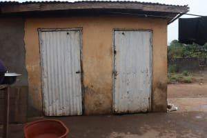 The Water Project: Masoila, 28 Conteh Street -  Latrine
