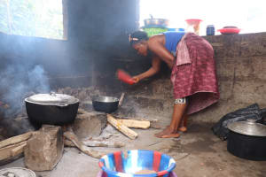 The Water Project: Masoila, 28 Conteh Street -  Woman Cooking