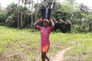 The Water Project: Tombo Lol, next to Agricultural Center -  Girl Carrying Water