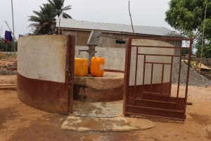 The Water Project: Tombo Lol, next to Agricultural Center -  Private Well
