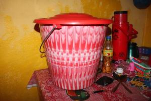 The Water Project: Kamasondo, Feradugu Village -  Water Storage