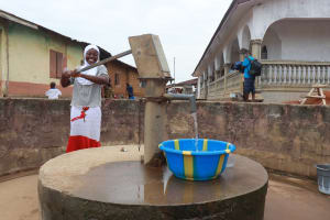 The Water Project: Lungi, Masoila, Lower Kamara St Mosque -  Young Girl Collecting Water