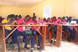The Water Project: Saint Paul's Roman Catholic Primary School -  Students Inside Classroom