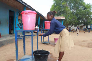 The Water Project: SLMC Primary School -  Student Demonstrating Hand Washing